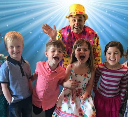 children birthday part dazzle clown image