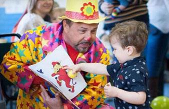 nursery school party dazzle clown image